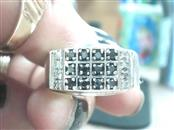Gent's Silver-Diamond Ring 20 Diamonds .20 Carat T.W. 925 Silver 3.7dwt